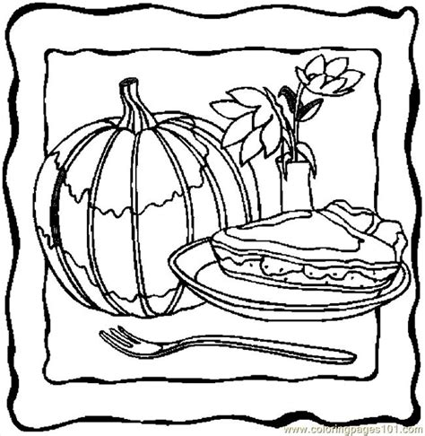 pumpkin pie 5 coloring page free thanksgiving day