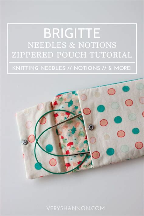 sewing pattern zipper case brigitte needles notions zippered pouch tutorial by very