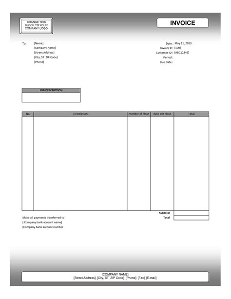 usa invoice template usa invoice template 5 all templates deal
