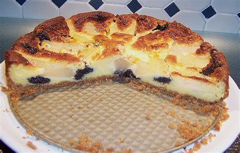 birnen quark kuchen mohn quark kuchen mit birnen rezept mit bild