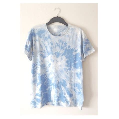 light blue and white reversed tie dye t shirt by strxnge