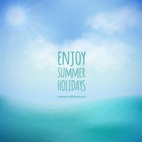Enjoy Summer enjoy summer holidays background vector free