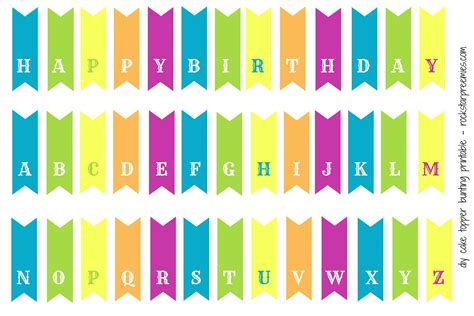 printable birthday cake banner template first birthday for two and a free diy bunting printable
