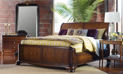 sleigh beds king size king size walnut sleigh bed