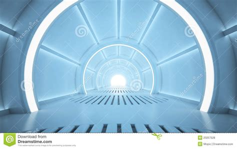 sci fi corridor royalty  stock  image