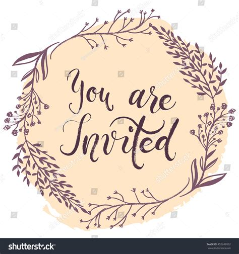 you are invited card template you invited invitation card vector stock vector