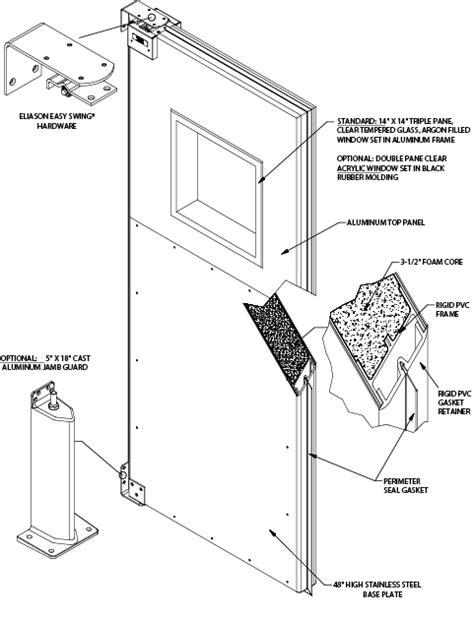 swinging door hinge installation keeping your cool with eisa doors from eliason eliason blog