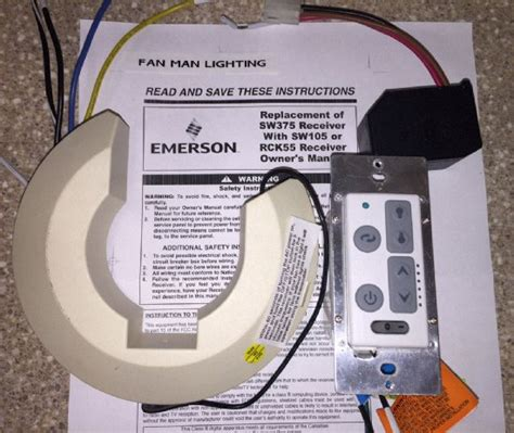emerson sw350 light fan sw375 sw105 to rck55 conversion