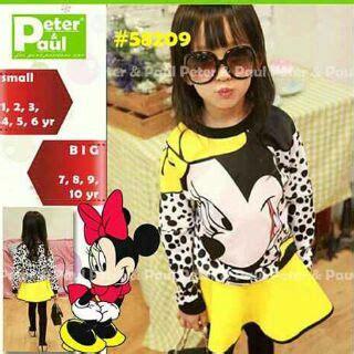 Stelan Rok Anak Cewe Mickey Mouse jual baju dress pakaian anak cewek cantik dan lucu
