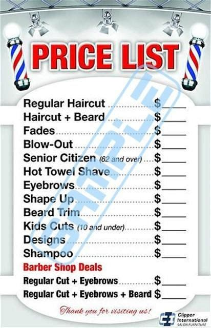 haircut price list the 25 best barber shop haircuts ideas on pinterest