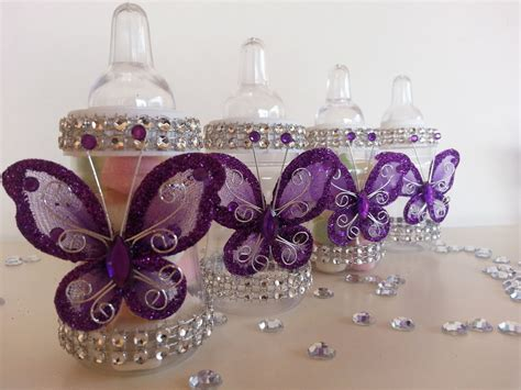 City Butterfly Baby Shower Decorations 12 purple fillable butterfly bottles baby shower favors