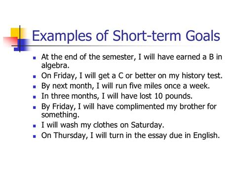 And Term Goals Mba Essay by 40 Term Goals Essay Term And Term Goal