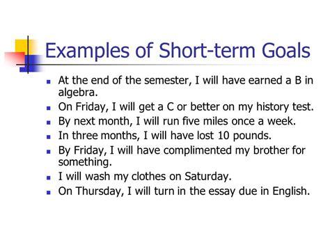Term And Term Goals Mba by 40 Term Goals Essay Term And Term Goal