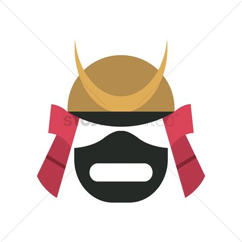 samurai helmet template samurai helmet vector image 1581849 stockunlimited