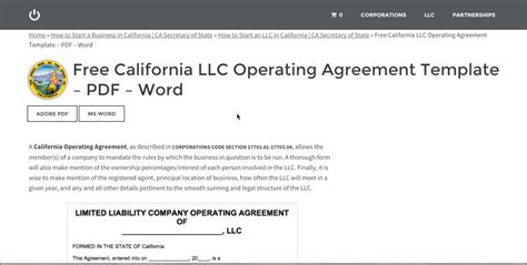 Free California Llc Operating Agreement Template Pdf Word Youtube California Llc Operating Agreement Template