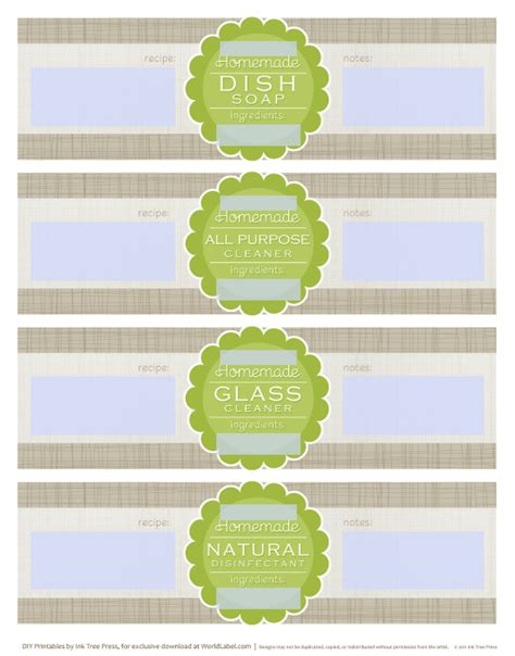 Handmade Soap Label Template Printable Label Templates Soap Label Templates