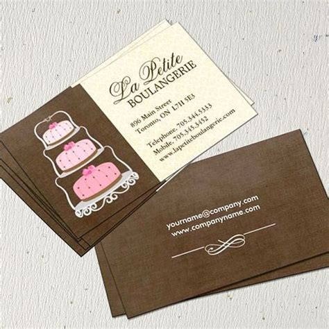 cakes business cards template bakery business cards thelayerfund