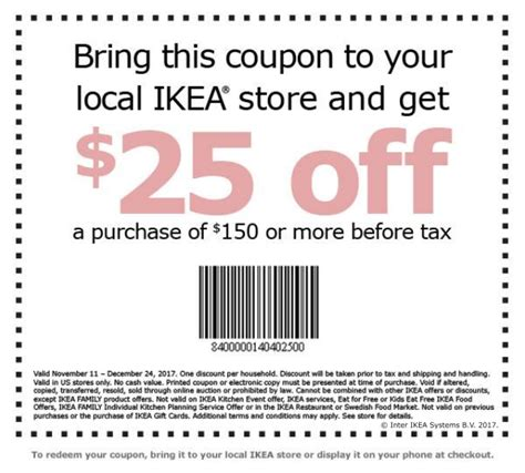 Ikea Gift Card Discount - ikea coupon promotion get 25 off 150