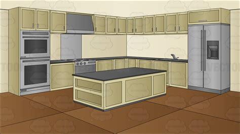 kitchen background a modern kitchen background clipart vector
