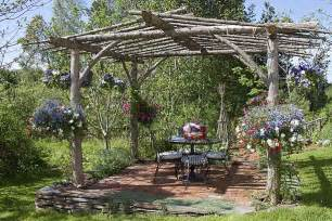 Rustic Pergolas by Rustic Pergola In A Vermont Garden Lakehouse Pinterest