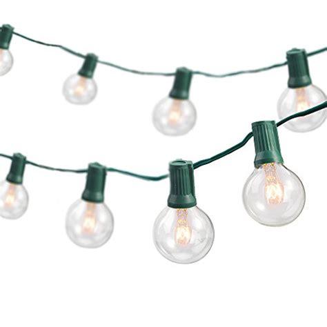 Patio Lights Replacement Bulbs Globe String Lights With 25 G40 Bulbs Taotronics