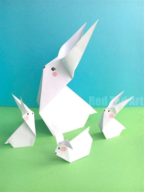 Origami Easter Bunny - easy paper bunny origami ted s