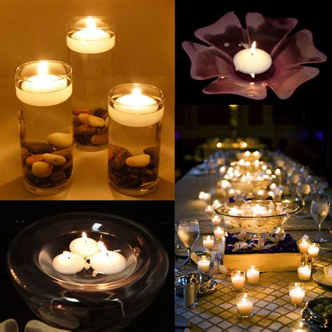 candles home decor 1 5 inch round floating candle disc floater wedding party