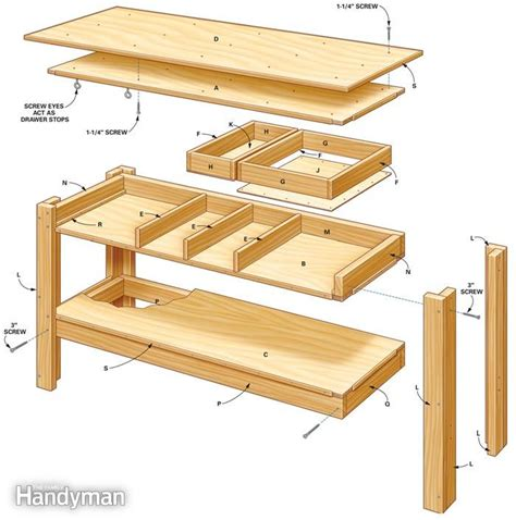garage work table designs pdf diy work bench table plans workbench plans nz