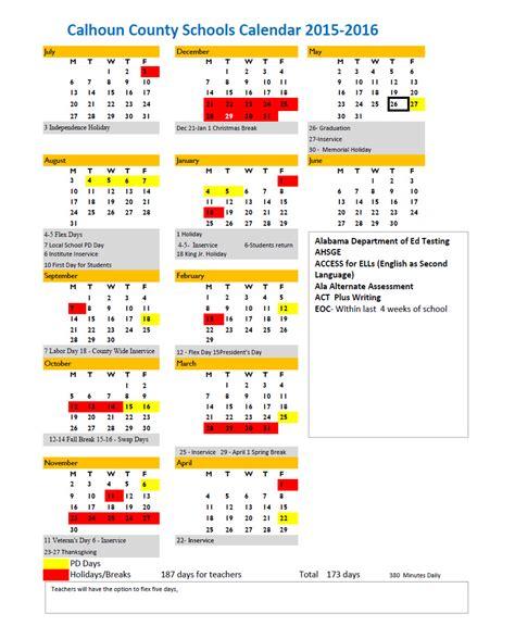 Ccboe School Calendar Calhoun County Schools