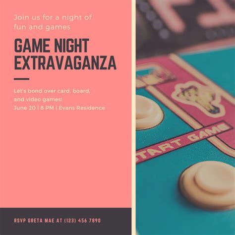 customize  game night invitation templates  canva