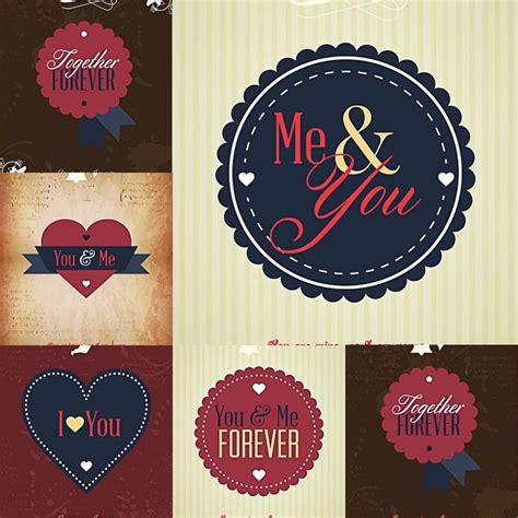 valentines together together forever valentines day set vector free