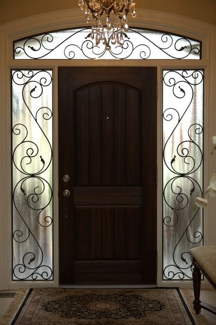 Wrought Iron Cabinet Door Inserts Classic Style Wrought Iron Door Inserts Entry Other Metro By Lusso Design Entry Doors