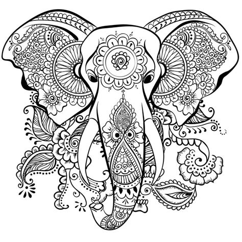 detailed elephant coloring pages adult colouring elephants zentangles a collection of art