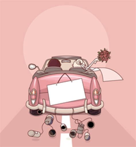 Hochzeit 94 App by Wedding Countdown Gallery Just Married Car With Tin Cans