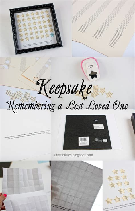keepsake idea gift remembering a lost loved one