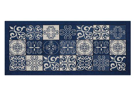 tappeto antiscivolo cucina tappeto con retro antiscivolo da cucina disegno maiolica