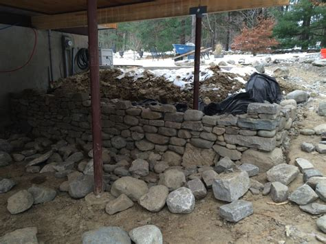 drystack stone retaining wall lincoln ma concord stoneworks
