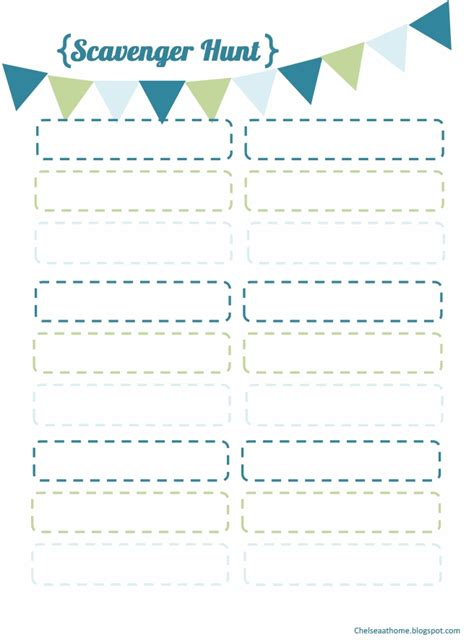 scavenger hunt template pin blank scavenger hunt template cake on