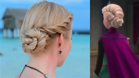 how to frozen elsas coronation hair frozen s elsa hair tutorial updo hairstyle for prom