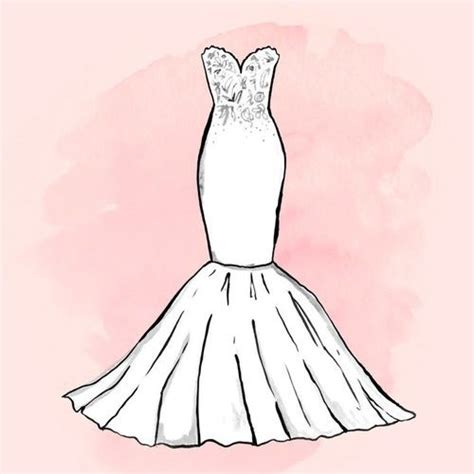 imagenes de vestidos faciles para dibujar dibujos de vestido de novia vestidos de noche populares