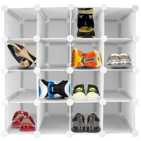 interlocking shoe storage 16 pair interlocking shoe organiser storage shelf cube