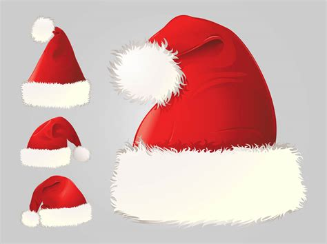 santa hats vector vector art graphics freevector com