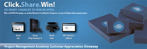 Customer Giveaways - customer appreciation giveaway pmp certification and training project management