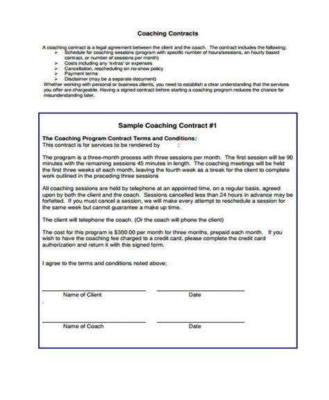 Monthly Membership Coaching Agreement Template Swineflutrackingmap Com Monthly Membership Agreement Template