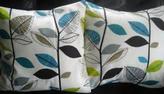 Lime Green And Grey Cushions Throw Pillow Covers Teal Blue Lime Green Gray Grey Leaf By
