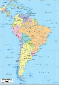 political map of south america ezilon maps