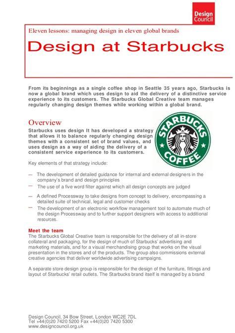 Product Layout Of Starbucks | design at starbucks
