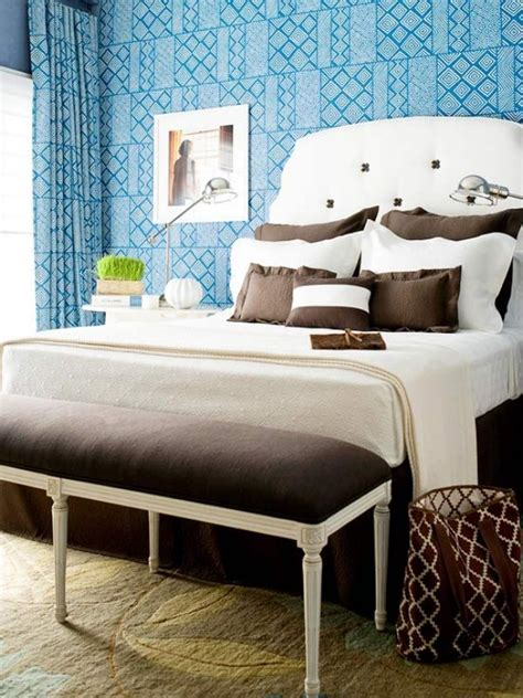 blue and brown bedroom 60 classy and marvelous bedroom wall design ideas