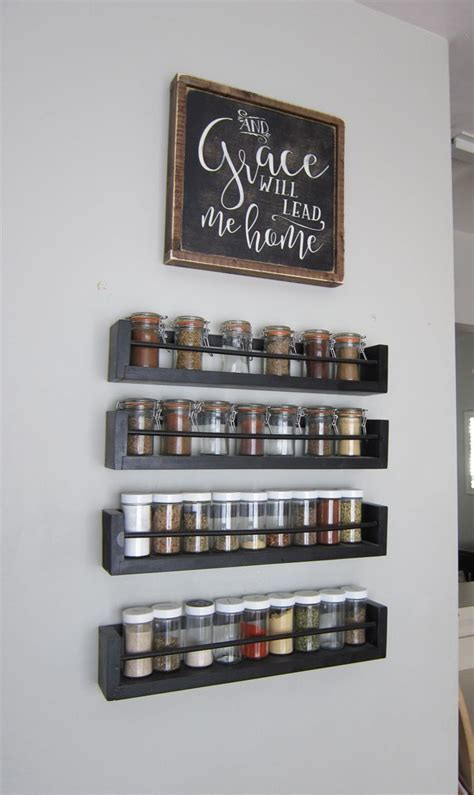 Wall Spice Rack With Spices Best 25 Kitchen Spice Storage Ideas On