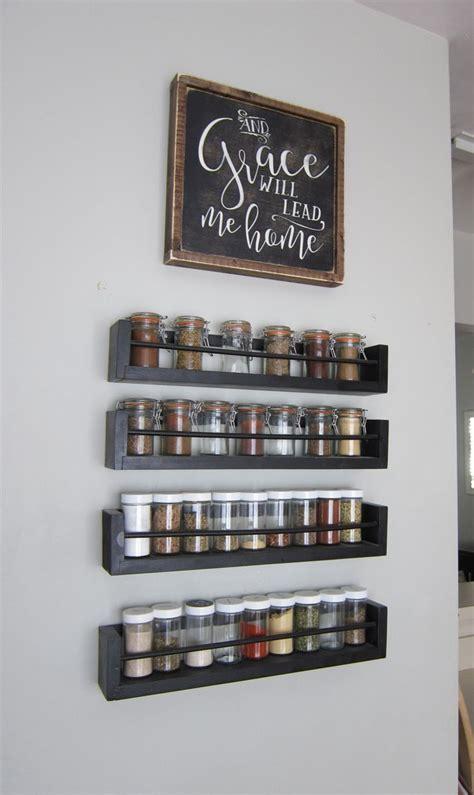Kitchen Wall Spice Rack Best 25 Kitchen Spice Storage Ideas On